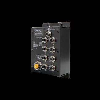 TGXPS-1080-M12-24V EN50155 8-port unmanaged PoE Ethernet switch
