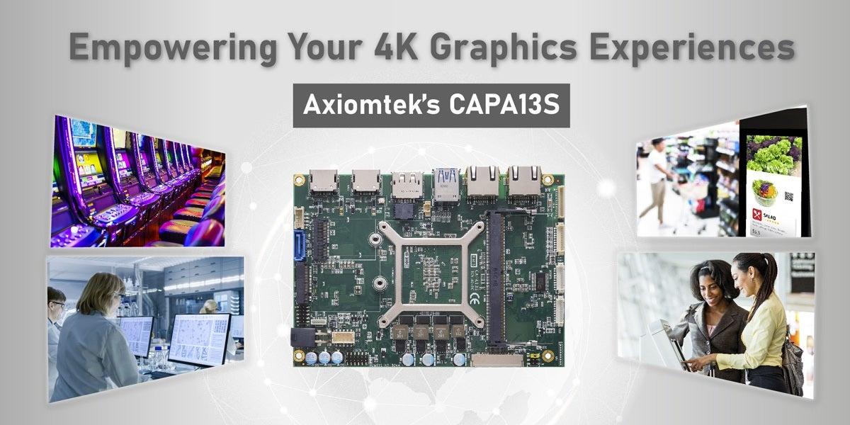"Axiomtek's 3.5"" Embedded Board with AMD Ryzen™ V1807B/V1605B Processor - CAPA13S"